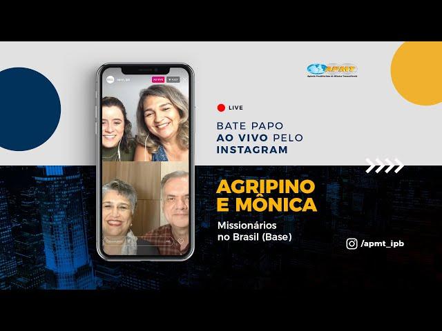 LIVE APMT com Marcos Agripino e Mônica | Missionários no Brasil