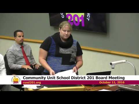 2016-10-11 Community Unit School District 201 Board Meeting