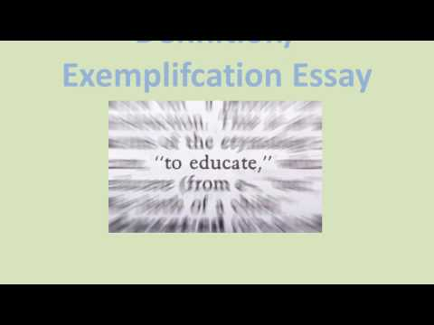 Definition Exemplification Essay