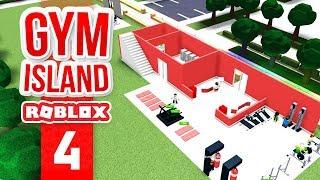 BUILDING A LOCKER ROOM - Roblox Gym Island #4