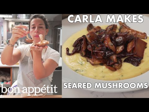 Bon Appetit Test Kitchen how to sear mushrooms to crispy golden perfection | from the test