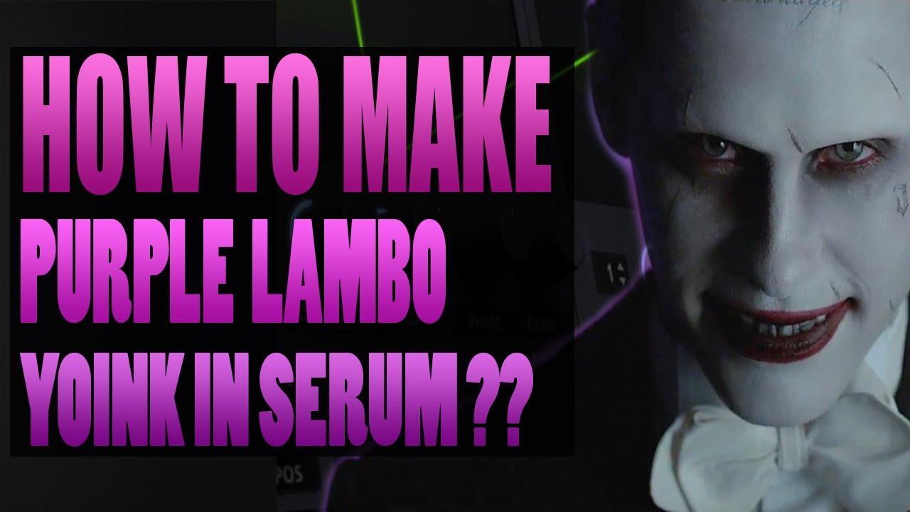 How To Make Skrillex Purple Lamborghini Yoink In Xfer Serum