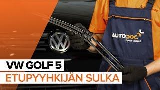 Tuulilasinpyyhkimet irrottaminen VW - video-opas