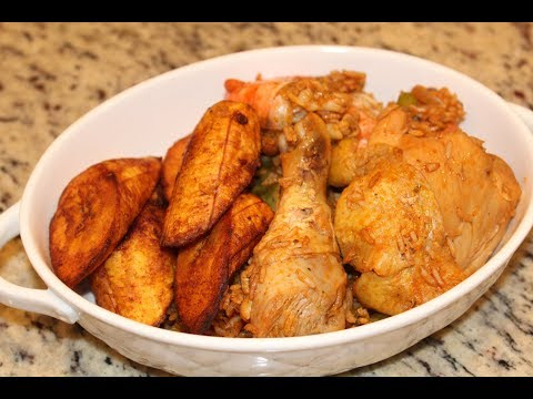 Paprika rice with shrimp & chicken (African Food Recipe)
