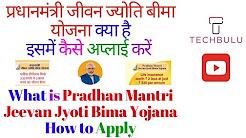 Pradhan Mantri Jeevan Jyoti Bima Yojana (PMJJBY) - Details, Eligibility, Claims & How to Apply-Hindi