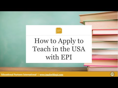 Webinar: How to Apply to Teach in the USA with EPI 4.26.18