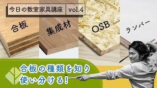 【合板の種類を知り使い分ける!】今日の教室家具講座 vol.4