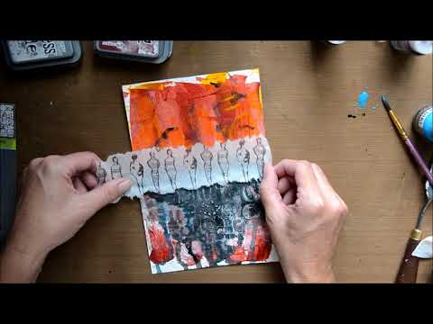 Soul Starter 13 - mixed media art