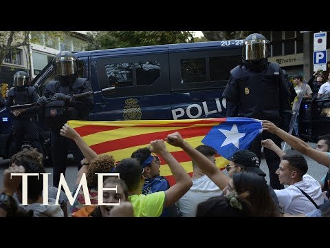 Download Youtube: At Least 12 People Arrested In Spain Amid Catalan Independence Demonstrations | TIME