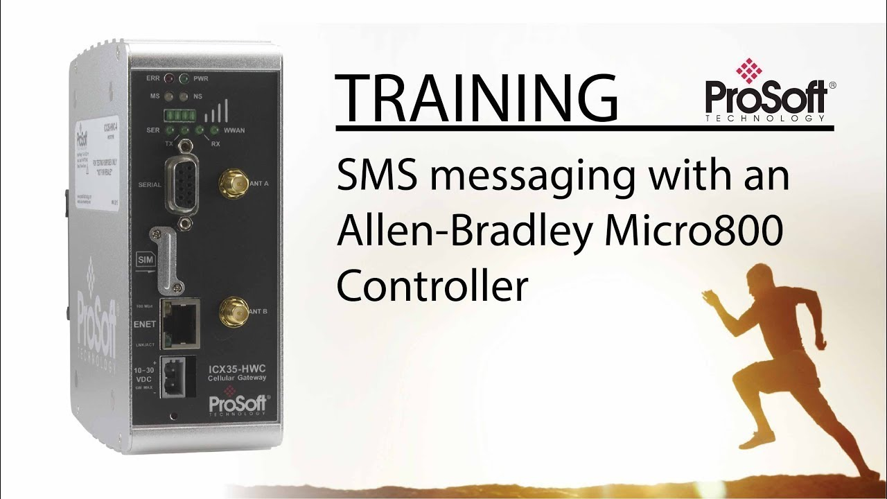 SMS messaging with an Allen-Bradley Micro800 Controller