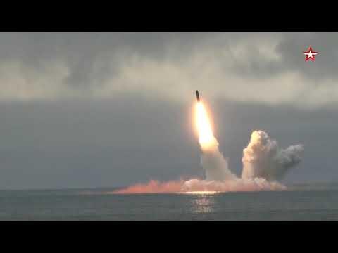 Видео пуска ракеты «Булава» с подлодки «Юрий Долгорукий»