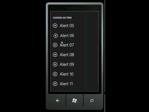 Windows Phone 7 SDK beta emulator ringtones