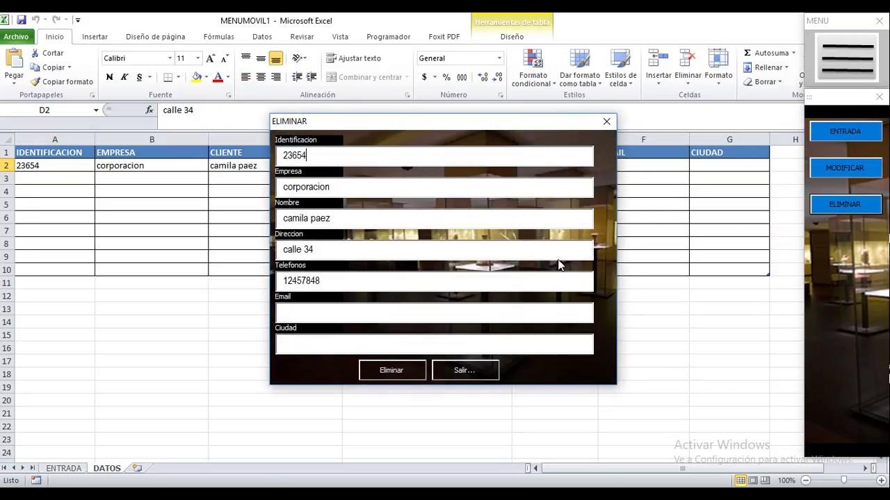 Una singular manera de trabajar con formularios en Excel con ...