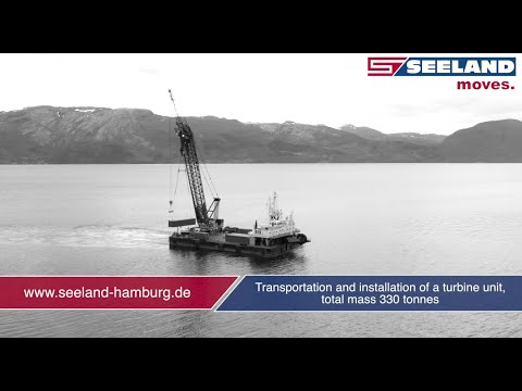 seeland hamburg transportation and installation of a turbine unit youtube. Black Bedroom Furniture Sets. Home Design Ideas