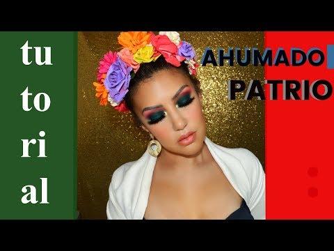 Ahumado en VERDE , DORADO Y ROJO / fiestas patrias | auroramakeup thumbnail