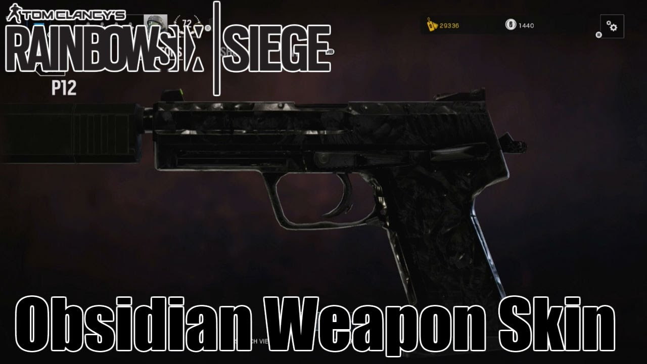 Rainbow Six Siege: How to Get the Obsidian Weapon Skin!