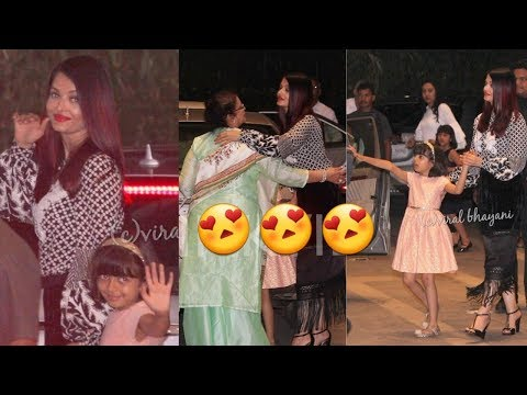 Aishwarya Rai Bachchan looking gorgeous with  Aaradhya Bachchan and her mom on dinner date