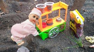 Abang Tukang Bakso lucu Main Pasir ♥️ Permainan Anak dan Balita