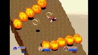 SegaSonic the Hedgehog 3 player arcade game 60fps