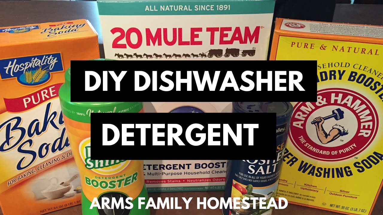 Homemade DIY Dishwasher Detergent - YouTube