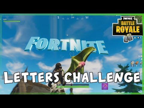 Fortnite Battle Royale Guide - How To Find Fortnite Letters ( Season 4)