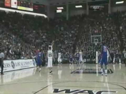 Tai Wesley from half court (assist Anthony Thomas)