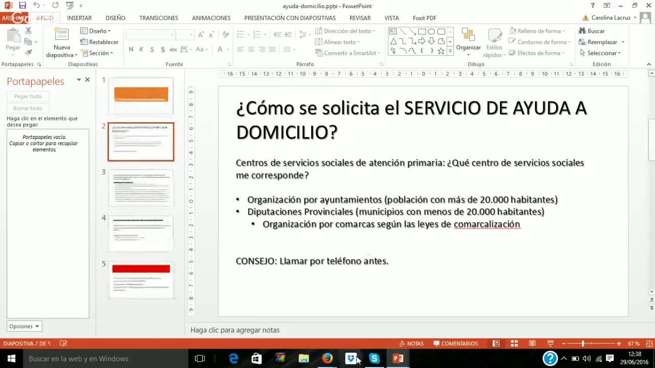 Caso pr ctico de trabajo social la ayuda a domicilio youtube - Esquema caso practico trabajo social ...