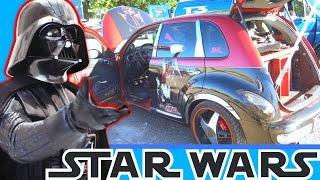 Crazy STAR WARS Car Audio Install w/ 2 15