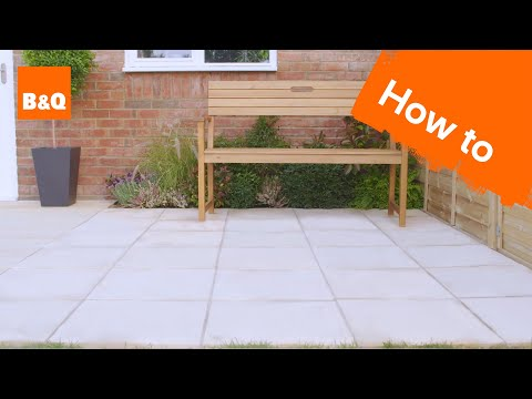 How to lay a patio