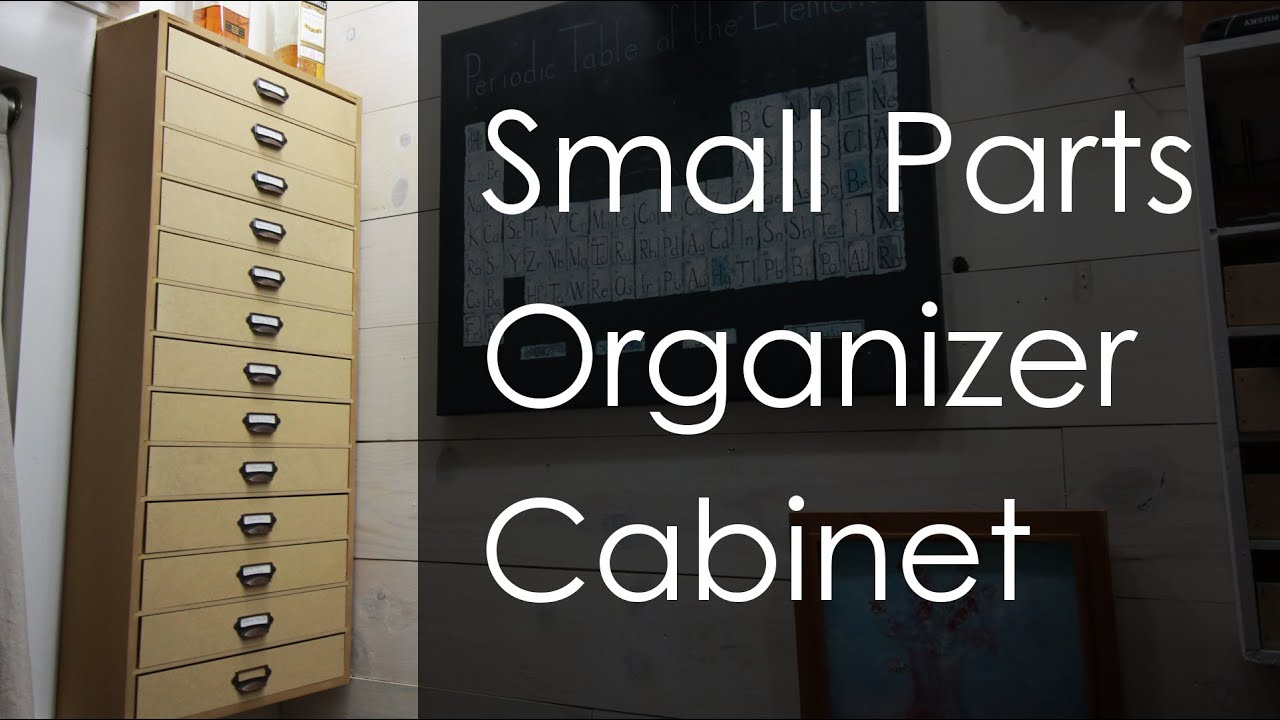 Small Parts Organizer Wall Cabinet W/ Drawers   YouTube