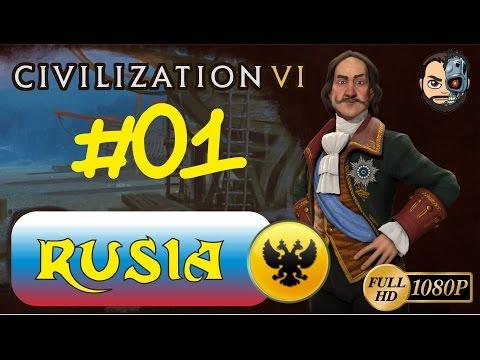 QUE SORPRESA!!! ESTAMOS TODOS XD (RUSIA) T4#1 - Civilization VI - 1080p Gameplay En ESPAÑOL