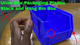 ✅  How To Use Uline Box Packaging Plastic Stack and Hang Bin Box Review
