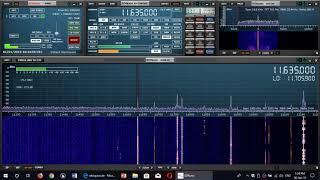 HM01 Hybride Mode 1 Cuban Number Station received 11635 Khz Shortwave sdrplay RSP1A SDR receiver