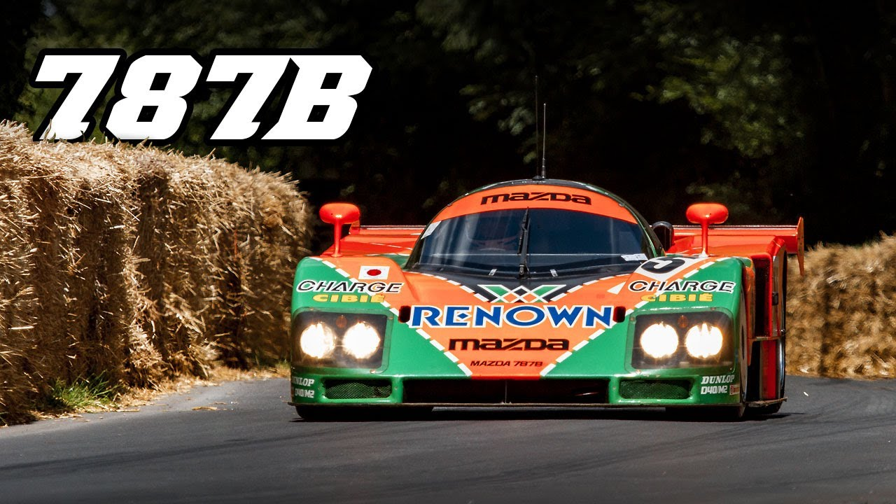 Video Mazda 787 at Goodwood and Le Mans