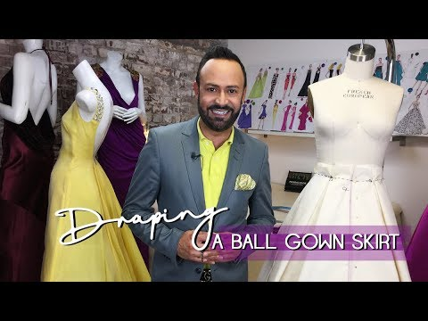 draping-a-ball-gown-skirt