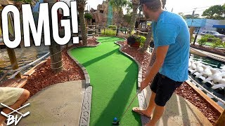 THE MINI GOLF COUPLES BATTLE! - LUCKY HOLE IN ONES AND MORE