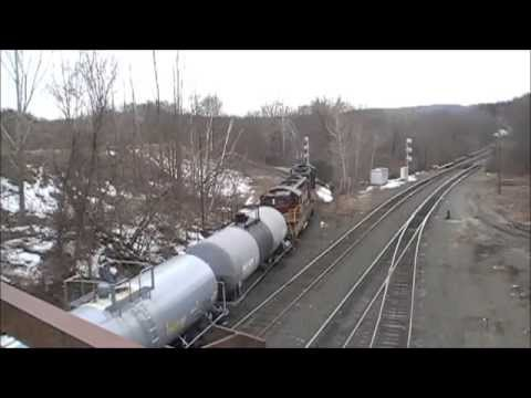 panam railways from hoosac tunnel ma to greenfield ma with three heritage units