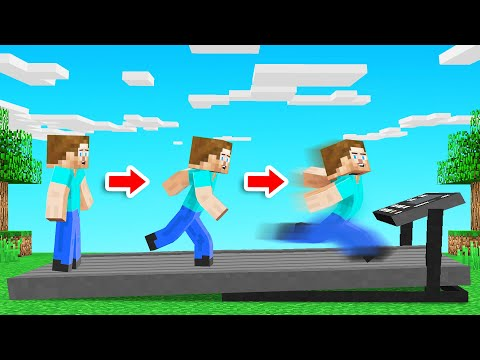 Minecraft But EVERY STEP = RUN FASTER!