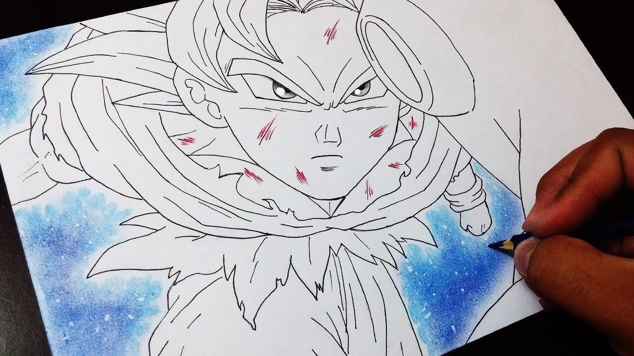 Drawing Goku Instinto Superior Vs Jiren Sketch Draw 1