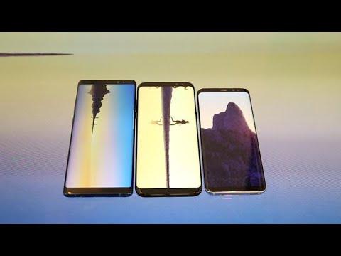 Frente a frente: Galaxy Note 8 vs. Galaxy S8 vs. Galaxy S8 Plus