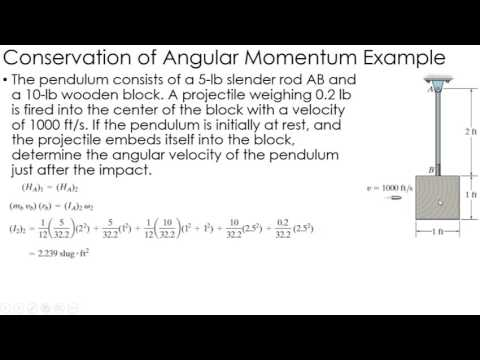 Dynamics Example: Conservation of Momentum of Rigid Bodies