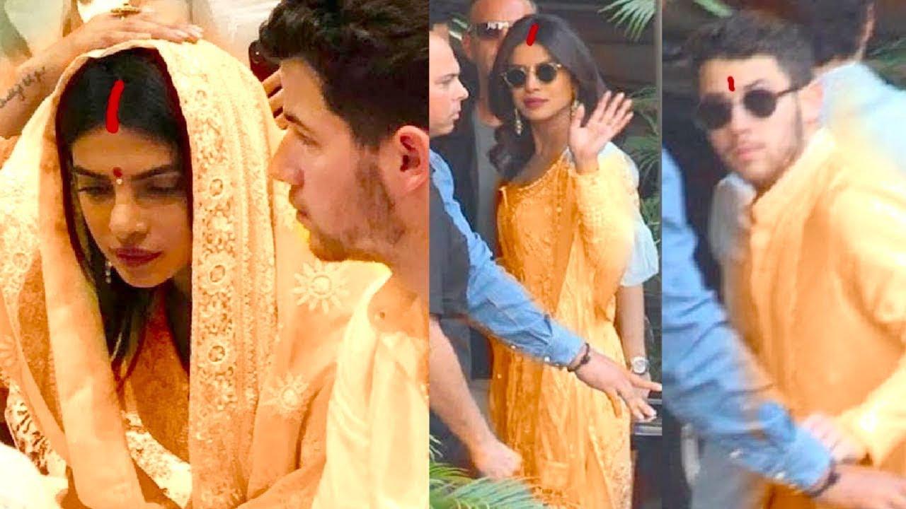 Priyanka Chopra Wedding.Finally Priyanka Chopra Nick Jonas Wedding Ceremony Begins With Grand Pooja With Family