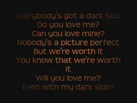 Love One Side Quotes Wallpaper Kelly Clarkson Dark Side Lyrics On Screen Youtube