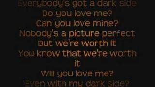 Kelly Clarkson - Dark Side Lyrics On Screen