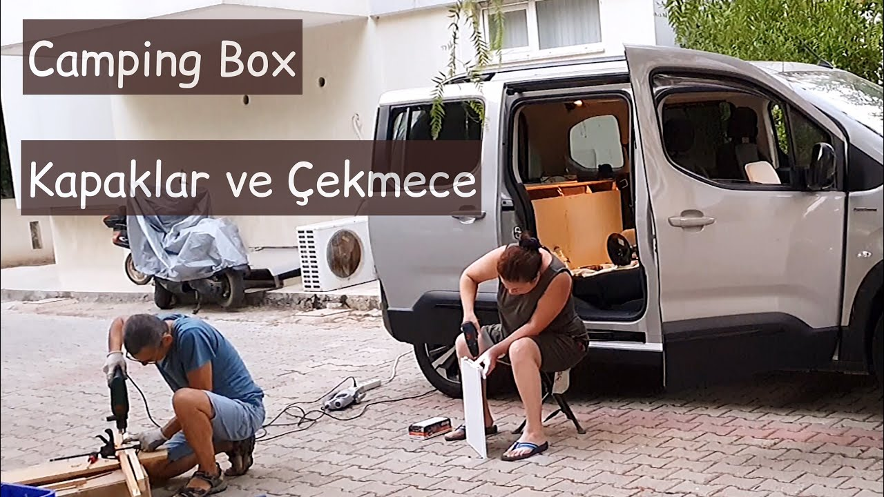 Mini Camper Yapımı | 7.Bölüm | Dolap Kapakları ve Çekmece  // Peugeot Rifter Minivan