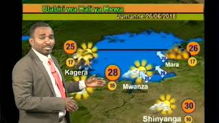 Tanzania Weather Forecast for 25/06/2018