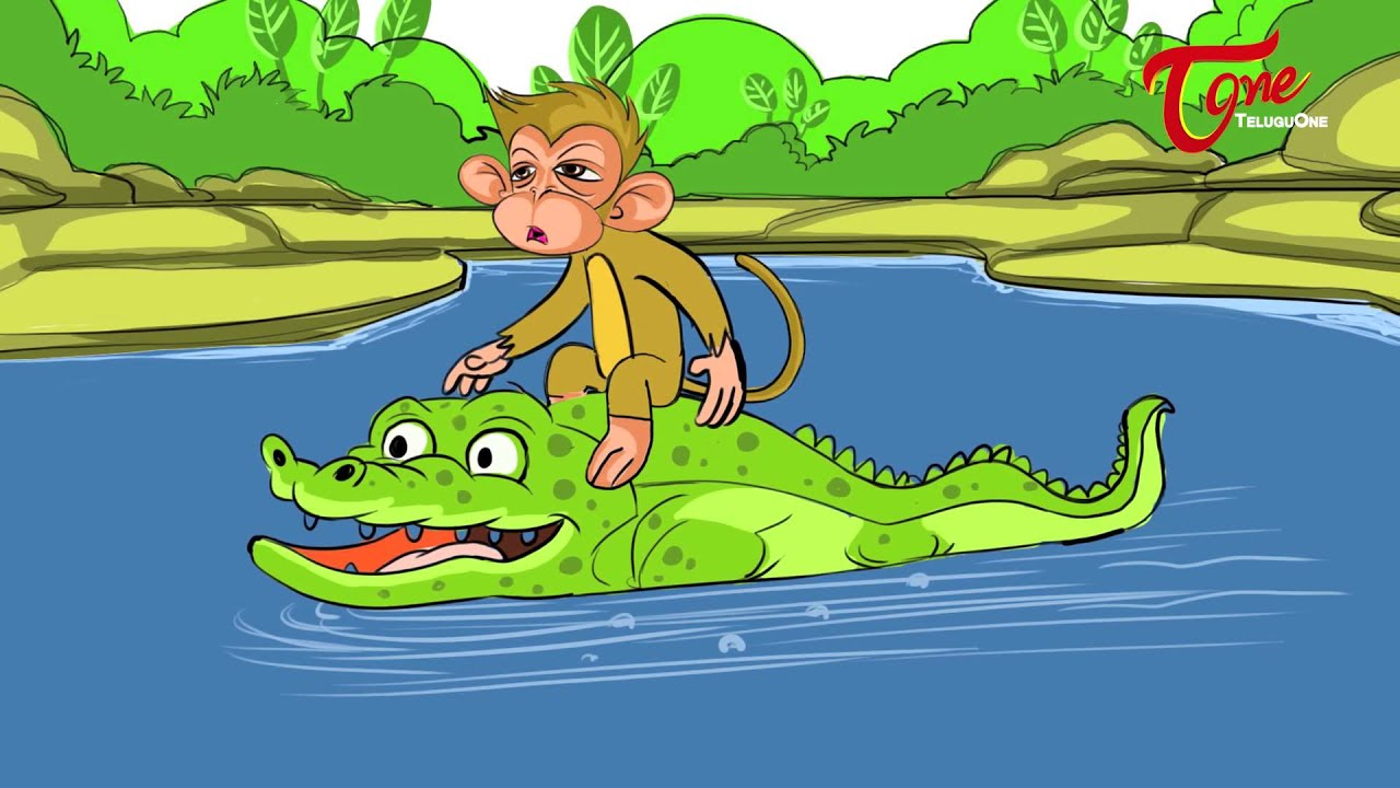 The Crocodile - Monkey and Heart Story For Kids | Telugu Moral Stories | By  Dr  Chitti Vishnu Priya