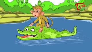 The Crocodile - Monkey and Heart Story For Kids | Telugu Moral Stories | By Dr. Chitti Vishnu Priya