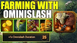 IMBA FARMING WITH OMNISLASH Ability Draft Dota 2