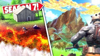 *NEW* VOLCANO MOUNTAIN *ERUPTING* AS BURNING GRASS SOON TO SPREAD! SEASON 7 EARTHQUAKE UPDATE!
